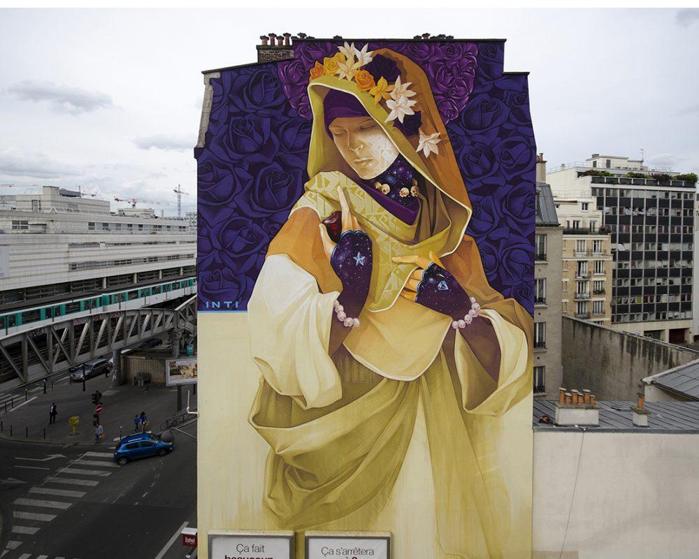 INTI- Paris street art 13 itinerrance