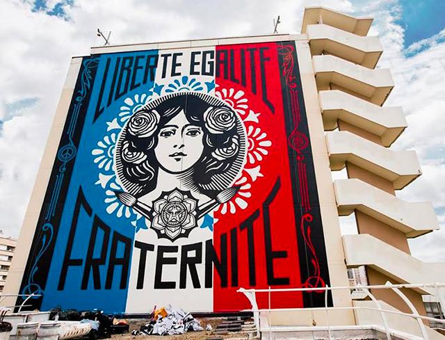 50 fresques sur le gris dans le 13e arrondissement de Paris