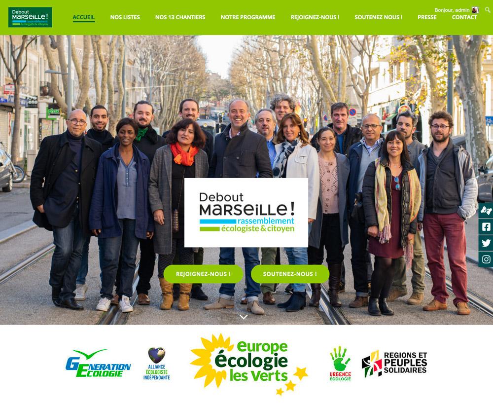 Projet web pour Debout Marseille, liste écologique aux municipales de 2020