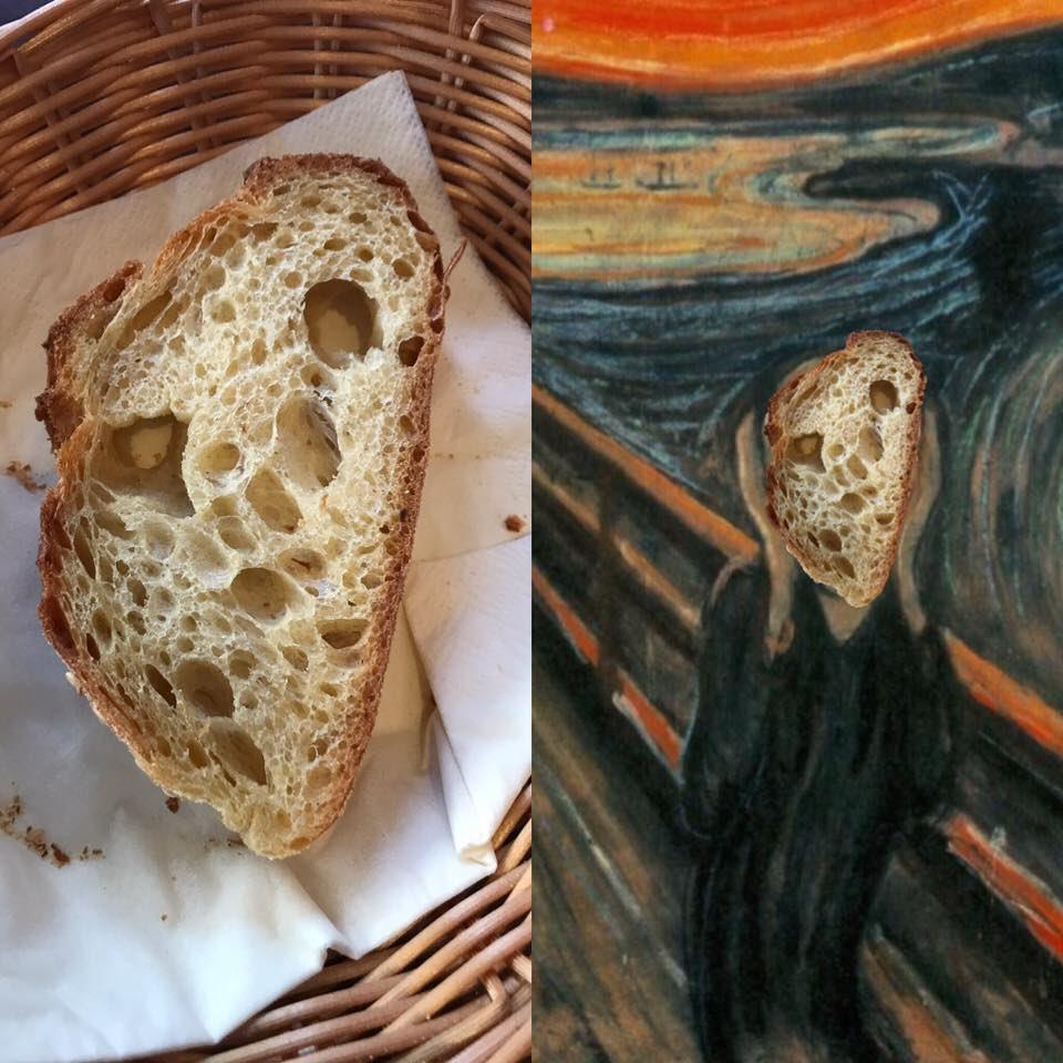 Nouvelle tendance sur Twitter : des copies de tableaux célèbres… sur des tartines !